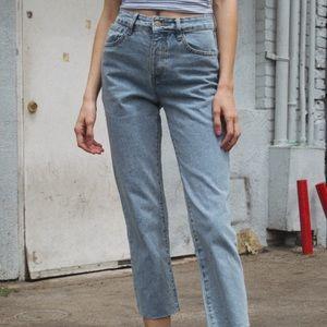 Brandy melville medium wash mom jeans